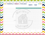 monthly habit tracker printable editable