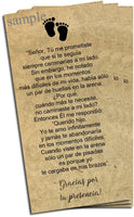 Huellas en la Arena - Printable Poem