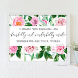 fearfully and wonderfully made printable art nursery girl