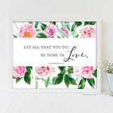 let all that you do be done in love printable