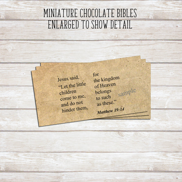 How to make chocolate bibles with Hershey's nuggets.