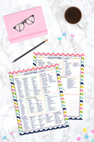 Shopping List  Printable - Grocery Store Checklist