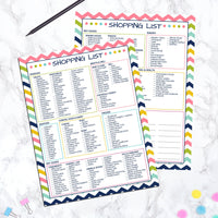 printable grocery shopping checklist