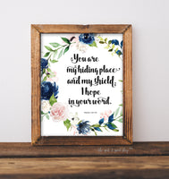 You Are My Hiding Place - Psalm 119:114 Printable Wall Art