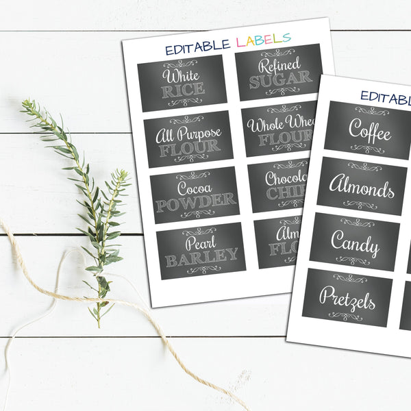 Editable Labels for Home Organization - DIY Labels - Type your Words