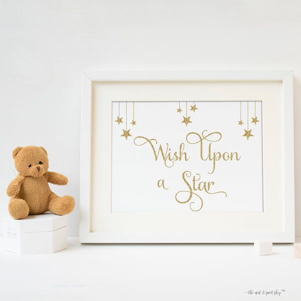 Wish Upon a Star Printable Nursery Art • Baby Shower Decor