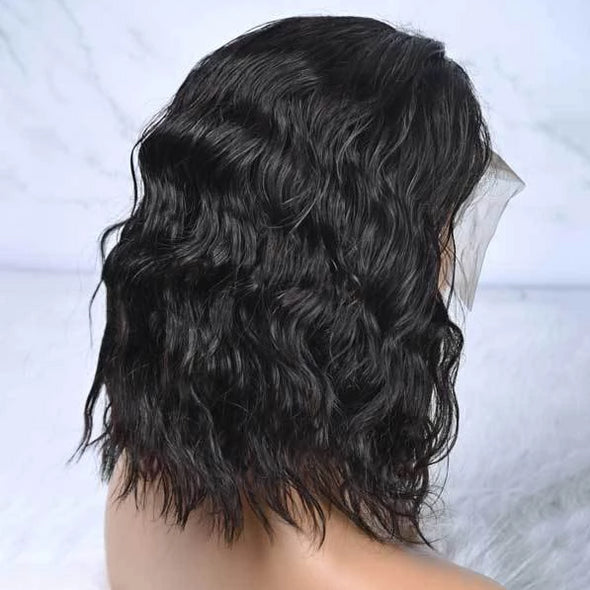Natural Short Curly Black Wig