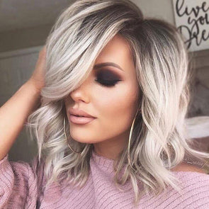 Beautiful Platinum Short Curly Wig