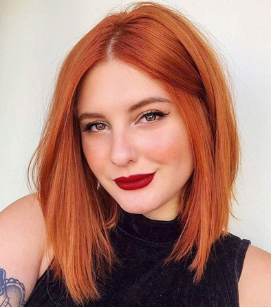 Amazing Orange Brown Bob