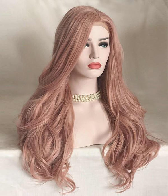 Coral Doll Pink wig