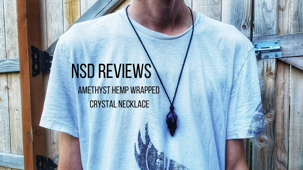 NSD Reviews Hemp Wrapped Crystal Necklace Collection