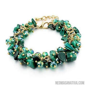 Assorted Stone Bracelet Collection-Bracelets-Green-Neoma Sanativa Design