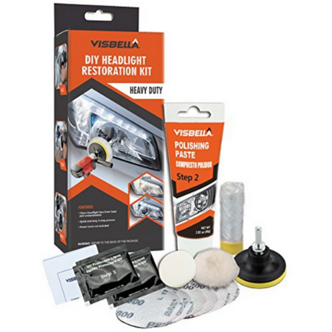 (1 Pack) Headlight Restoration Kit