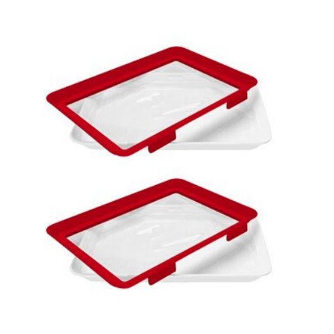 4 Pack > Microwaveable Food Sealing Tray