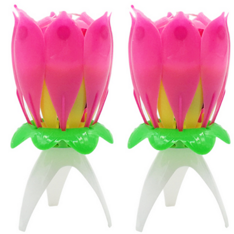 (4 Pack) Lotus Flower Candle