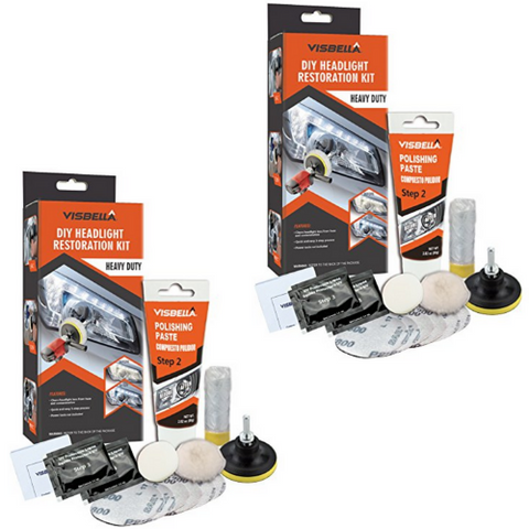 (2 Pack) Headlight Restoration Kit