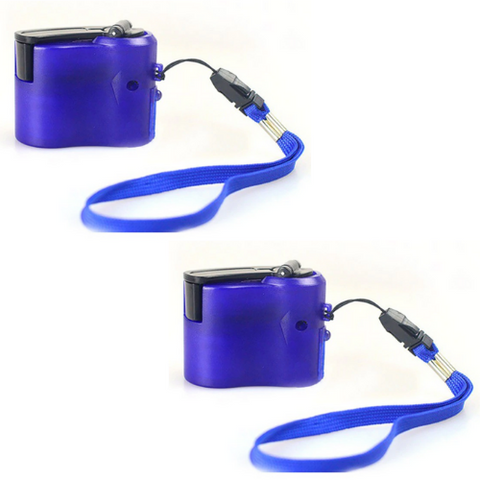 (2 Pack) Hand Crank Charger