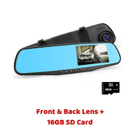 (2 Lens + 16GB SD Card) Super Smart Dash Cam