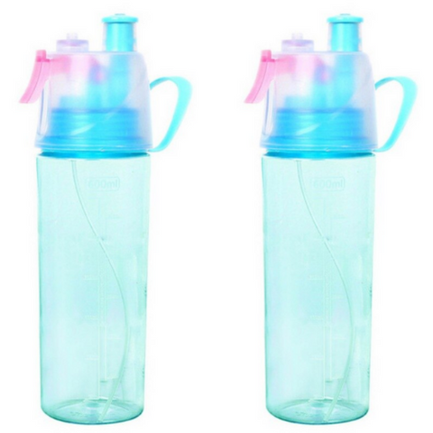 (2 Pack) Reusable Mist Water Bottle