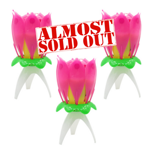 (6 Pack) Lotus Flower Candle