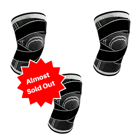 (3 Pack) Compression Knee Brace