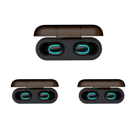 (3 Pack) Black Bluetooth Earbuds