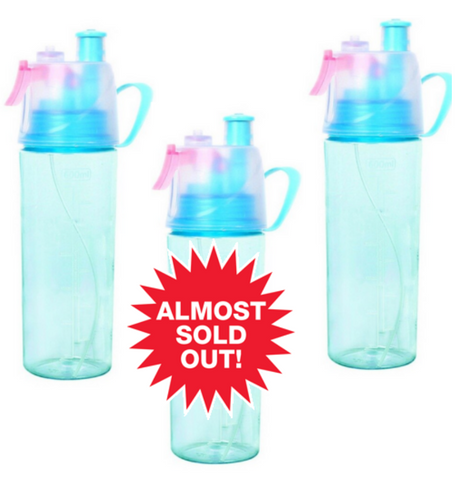 (3 Pack) Reusable Mist Water Bottle