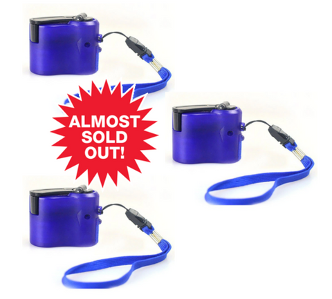 (3 Pack) Hand Crank Charger