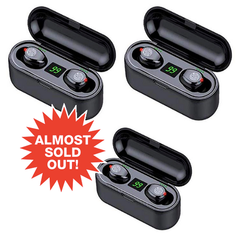 (3pk) Smart Touch 8D Wireless Earbuds