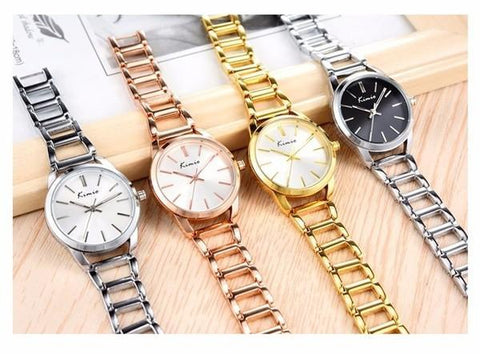 KIMIO Woman Elegant Casual  Dress Bracelet Watches Waterproof Stainless Steel Quartz Watch