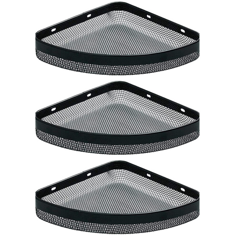 (3 Pack) Punchless Triangle Wall Corner Shelf