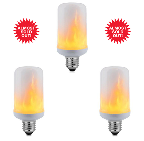 *3pk LED flame lamp