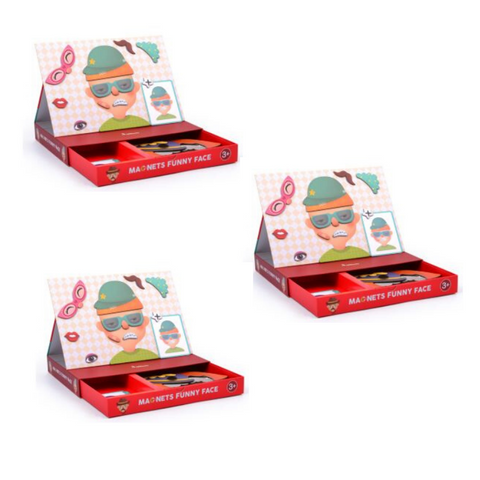 Magnetic Funny Face Puzzle (3 Pack)