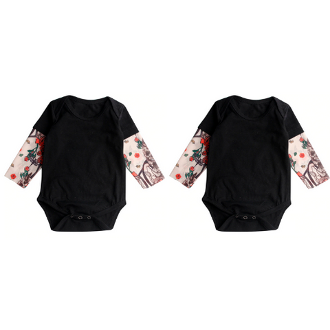 (2 Pack) Baby Tattoo Onesie