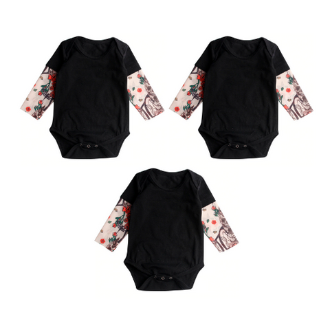 (3 Pack) Baby Tattoo Onesie