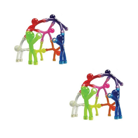 Bendable man Magnets 10 pcs all colors (2 Pack)