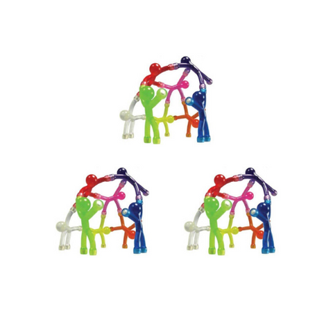 Bendable man Magnets 10 pcs all colors (3 Pack)