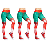 (3 Pack) Christmas Leggings Workout Pants