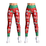 (2 Pack) Christmas Leggings Workout Pants