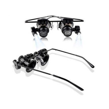 20X Binocular Repair Magnifier Glasses with LED Light!