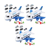 (3 Pack) Large Size Airliner Toy