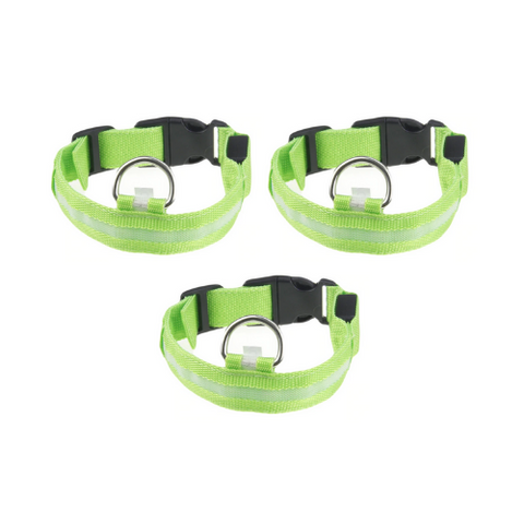 (3 Pack) LED Pet Safety Collar