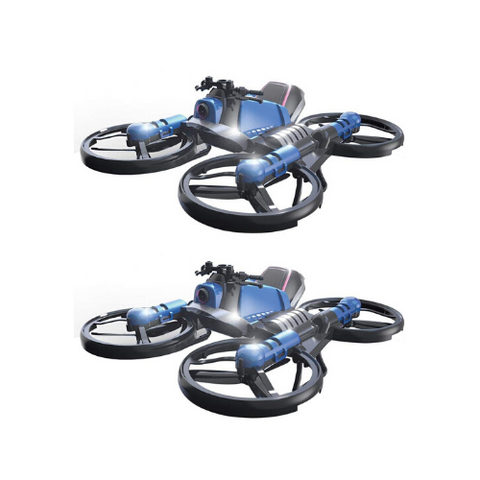 (2 Pack)  Motorcycle Quadcopter Drone
