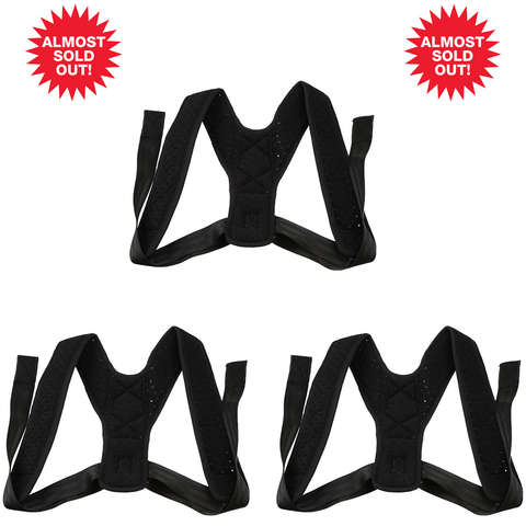 (3PK) Posture Corrector (Adjustable to All Body Sizes)