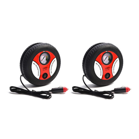 (2 Pack) Portable Electric Tire Pump