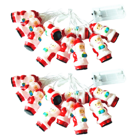 (2 Pack) Santa Claus LED String Lights