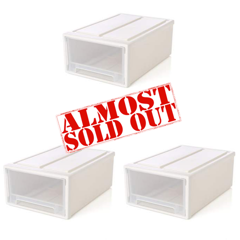3 Shoe Box Drawers