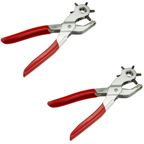 (2 Pack) Leather Hole Puncher