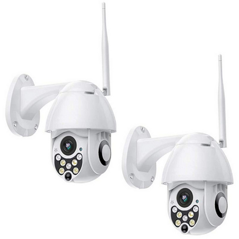 (2 Pack) 1080p Smart Outdoor Cam