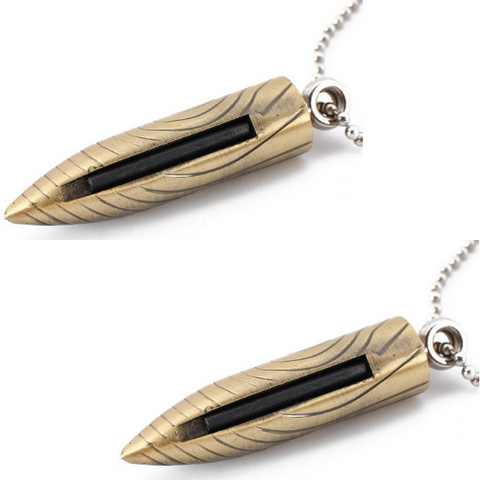 (2PK) Bullet Necklace Lighter